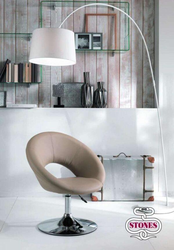 poltrona-poltroncina-armchair-ecopelle-kaki-bianco-white-marrone-brown-acciaio-stones (4)