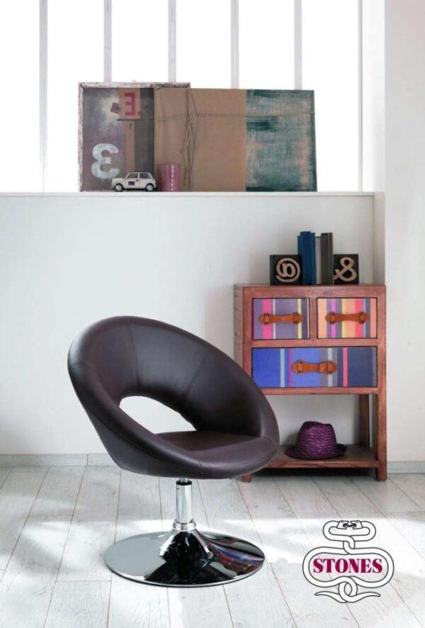 poltrona-poltroncina-armchair-ecopelle-kaki-bianco-white-marrone-brown-acciaio-stones (6)