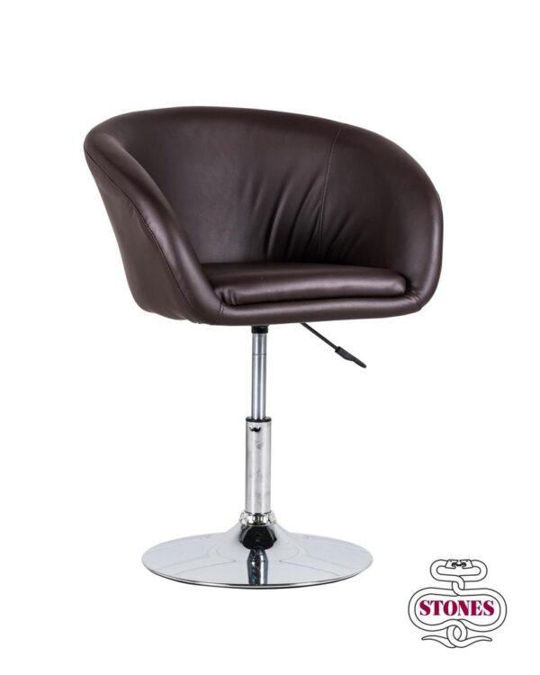 poltrona-poltroncina-armchair-lena-bianco-white-kaki-marrone-brown-stones-ecopelle (3)