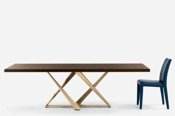 design-table-tavolo-millennium-bontempi-shop-brunetti-home-struttura-oro-piano-legno