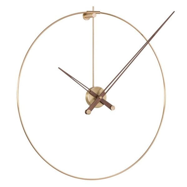 nomon-new-anda-shop-brunetti-home-orologio-clock-design-oro-lancette-legno-noce-gold-edition-