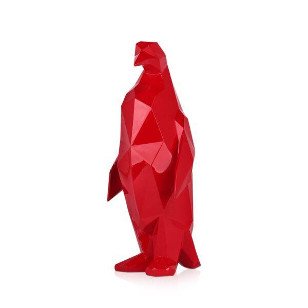 scultura-in-resina-pinguino-rosso-bianco-effetto-specchio (1)