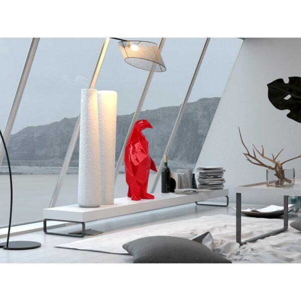 scultura-in-resina-pinguino-rosso-bianco-effetto-specchio (5)
