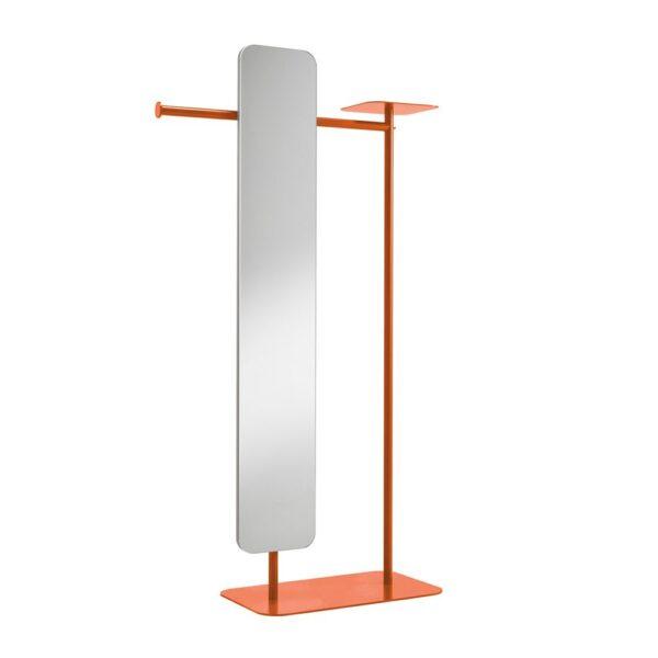 babele-servomuto-in-metallo-verniciato-arancio-con-specchio-modello-l