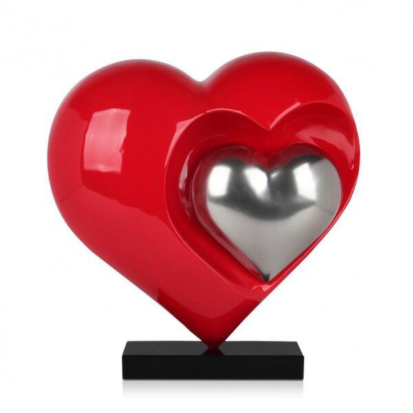 scultura_in_resina_cuori_rosso_argento_base_in_marmo (1)