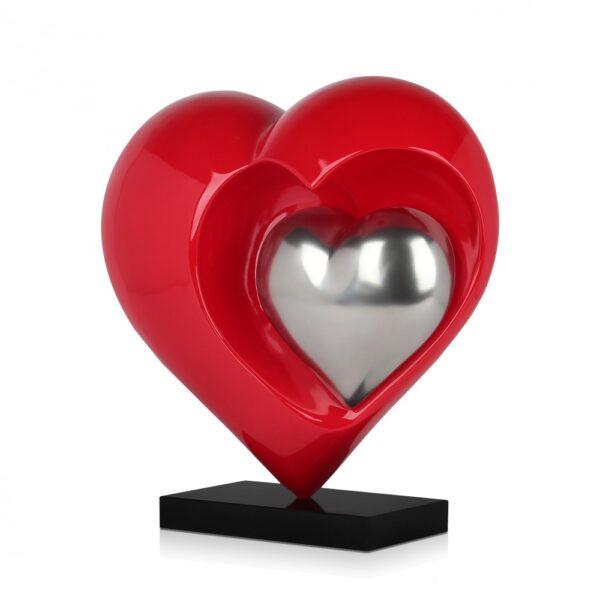 scultura_in_resina_cuori_rosso_argento_base_in_marmo (2)