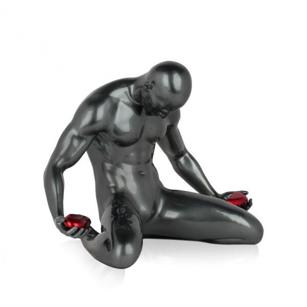 scultura_in_resina_cuore_spezzato_amore_uomo_nero_bianco_antracite (2)