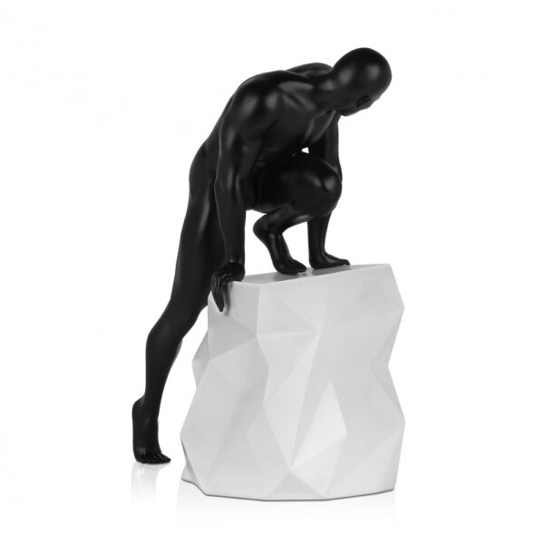 scultura_in_resina_fascino_design_nero_bianco_effetto_metallo (1)