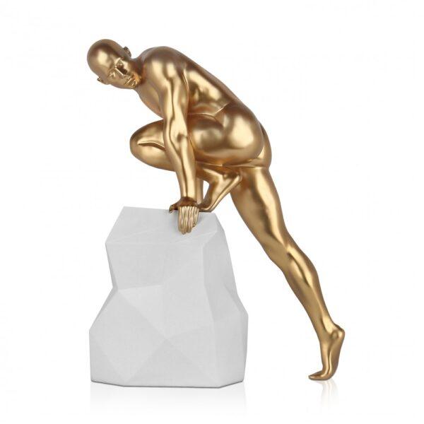 scultura_in_resina_fascino_design_nero_bianco_effetto_metallo (14)