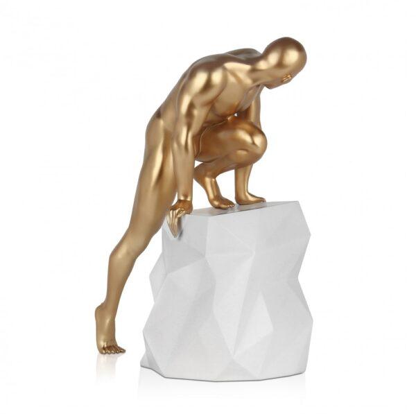scultura_in_resina_fascino_design_nero_bianco_effetto_metallo (16)