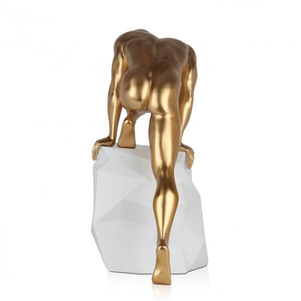 scultura_in_resina_fascino_design_nero_bianco_effetto_metallo (17)