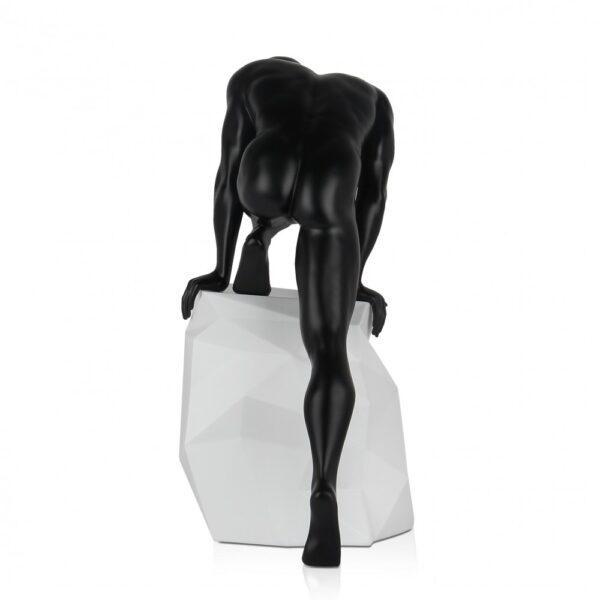 scultura_in_resina_fascino_design_nero_bianco_effetto_metallo (2)
