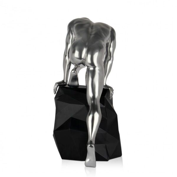 scultura_in_resina_fascino_design_nero_bianco_effetto_metallo (22)