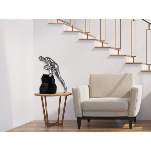 scultura_in_resina_fascino_design_nero_bianco_effetto_metallo (23)