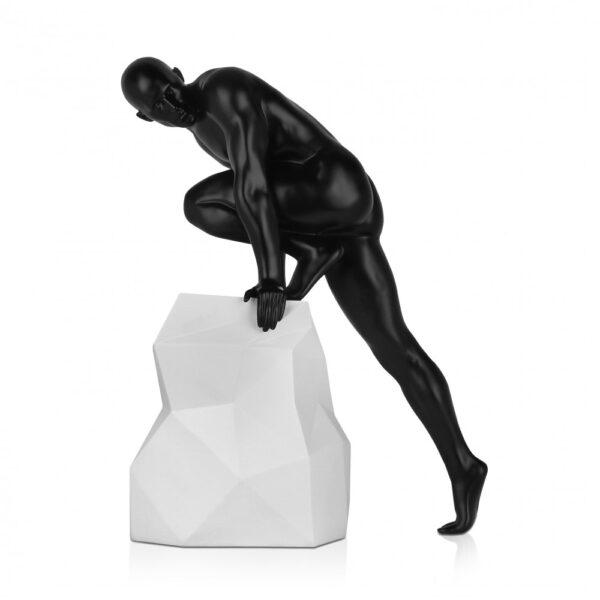 scultura_in_resina_fascino_design_nero_bianco_effetto_metallo (24)