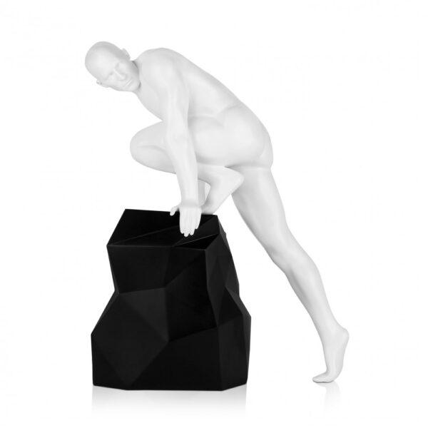 scultura_in_resina_fascino_design_nero_bianco_effetto_metallo (4)