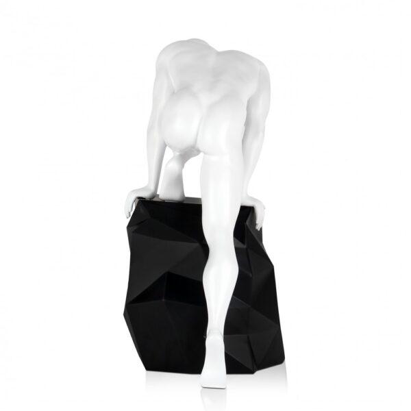 scultura_in_resina_fascino_design_nero_bianco_effetto_metallo (7)