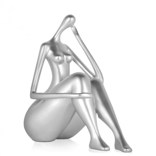 scultura_in_resina_quiete_riflessione_piccola_argento_effetto_metallo_nero_rosso_oro (6)