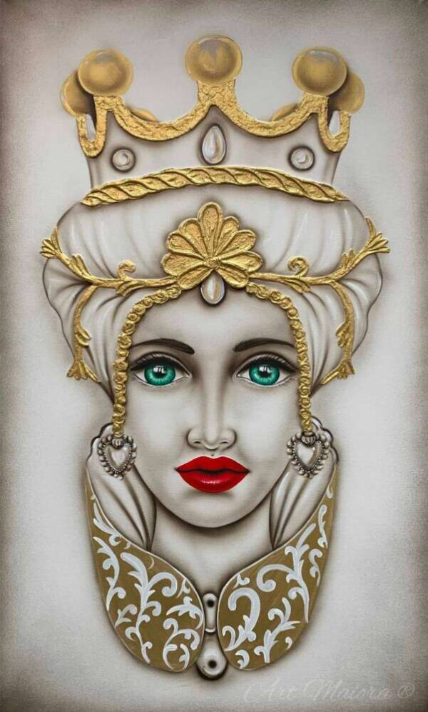 TMCR4_crown bianco oro donna