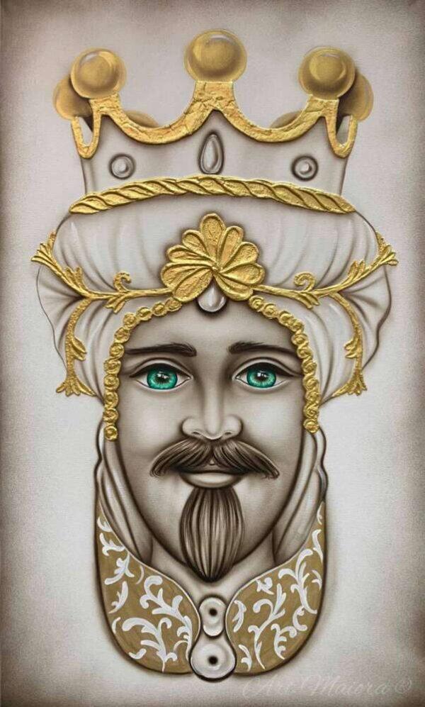 TMCR4_crown bianco oro uomo