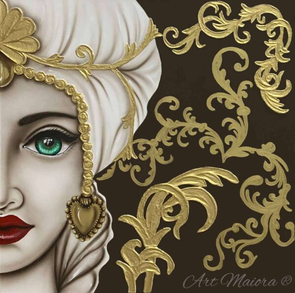 TMKG2_king marrone oro donna