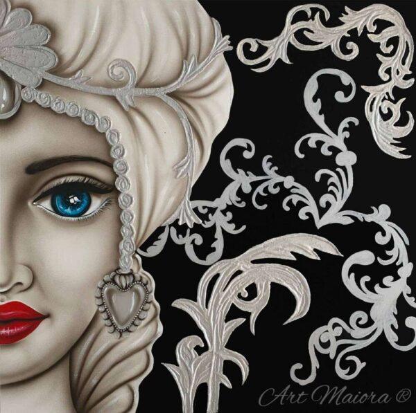 TMKG4_King nero argento donna