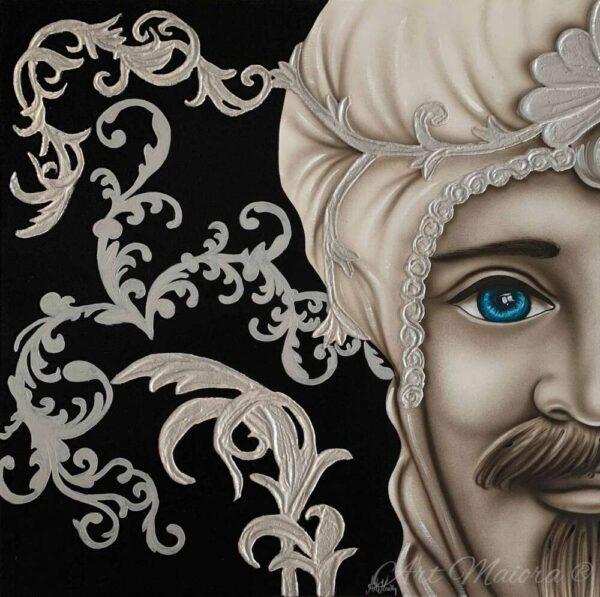 TMKG4_King nero argento uomo