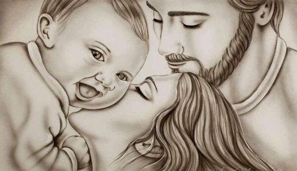 SCRFMG2_sacra famiglia gaia_tela_senza_cornice